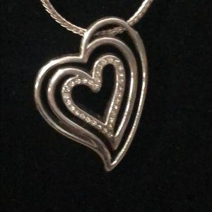 Authentic Brighton reversible heart necklace